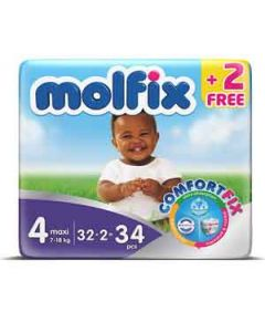 Molfix Size 4 (34 Diapers)