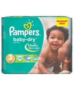 Pampers Baby Dry Size 3 (36 Diapers)