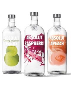 Buy Absolut Flavoured Vodka 1Ltr (Pack of 6)