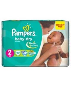 Pampers Baby Dry Size 2 (40 Diapers)