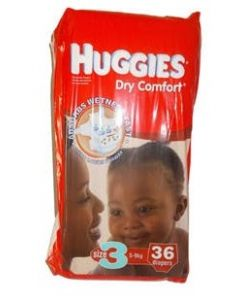Huggies Dry Comfort Size 3 (36 Diapers)